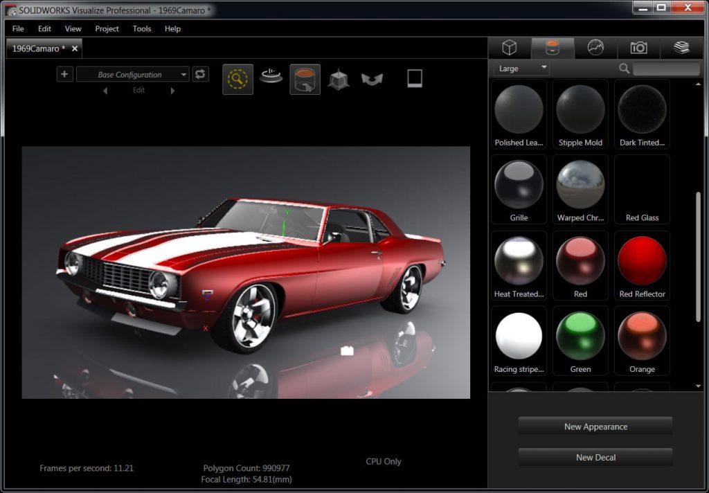 SOLIDWORKS Visualize tạo hình ảnh sinh động cho thiết kế sản phẩm của bạn