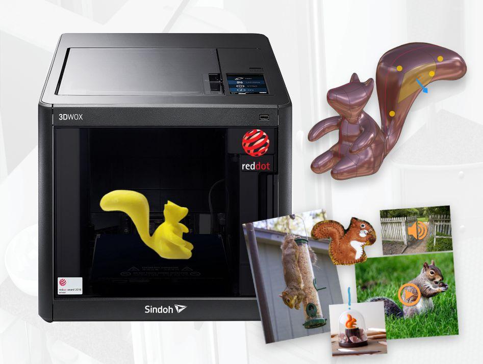 Máy in 3D Sindoh sử dụng loại nhựa có nguồn gốc tự nhiên thân thiện với môi trường, an toàn cho sức khỏe và rất dễ dàng để sử dụng.