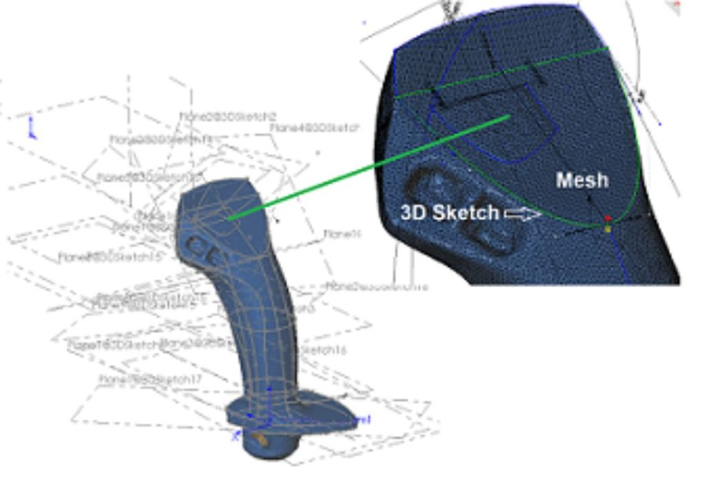 Tính năng Scan to 3D trong SOLIDWORKS Premium giúp bạn dễ dàng kết hợp với các máy quét 3D để đưa hình ảnh quét laser vào trong môi trường thiết kế SOLIDWORKS 3D CAD