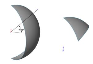 Bề mặt trái bóng đối xứng