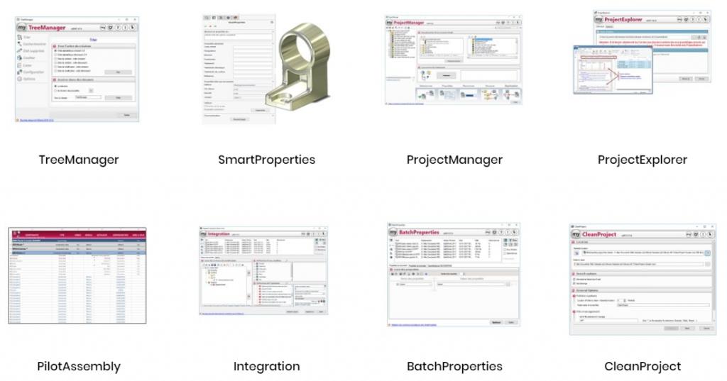 Nhóm công cụ quản lý dự án trong phần mềm myCADtools