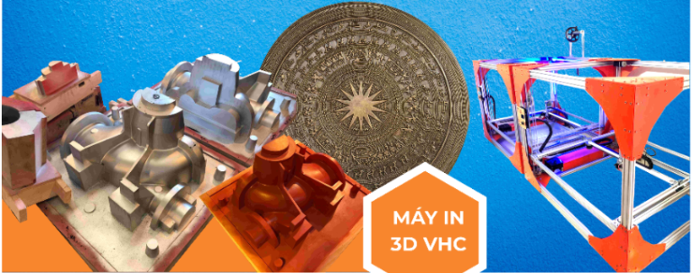 Máy in 3D khổ lớn sản xuất tại Việt Nam: tiêu chuẩn, chất lượng tốt.