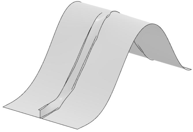 Biến dạng uốn  buckling  của một panel trong solidworks